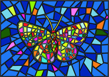 Butterfly Stained Glass Mosaic...