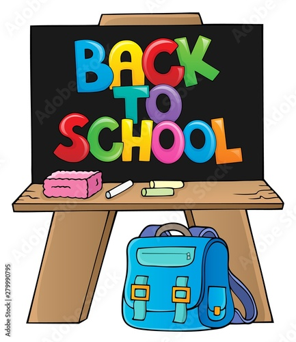 Foto auf AluDibond Für Kinder Back to school design 7