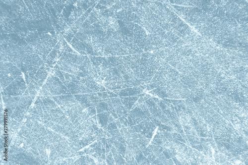 Eishockey Hintergrund - Helles Eis mit Kratzern von Schlittschuhen Canvas Print