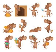 Cartoon Mouse. Funny Little An...