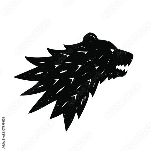 Fotografie, Tablou Bear logo. Heraldic logo