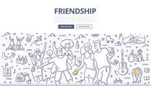 Friendship Doodle Concept
