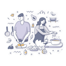 Cooking Healthy Food Concept