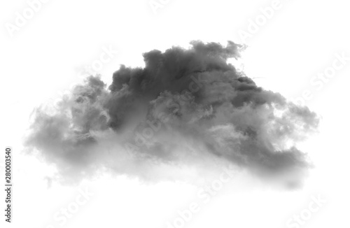 Poster de jardin Fumee Black smoke on a white background