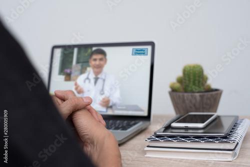 Medical online Fototapeta