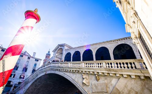 Poster Venice rialto bridge in venice - italy