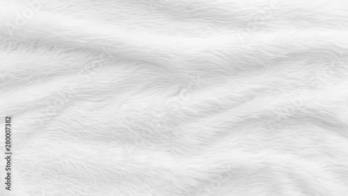 Fotografía Fur background with white soft fluffy furry texture hair cloth of sheepskin for