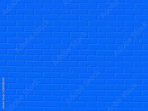 Photo blue brick wall background