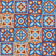 Ancient Mosaic Ceramic Tile Pattern.