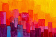 canvas print picture - abstract city buildings background