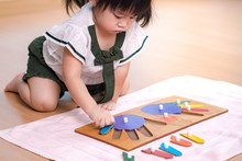 An Adorable Asian Preschool Li...