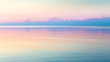 Morning clear seascape with colorful sky. Natural soft background. Beautiful magical pink and gold reflected in the water.