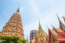 Pagoda At Tiger Cave Temple (Wat Tham Sua) In Kanchanaburi, Thailand.