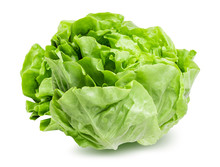 Fresh Lettuce Isolated On Whit...
