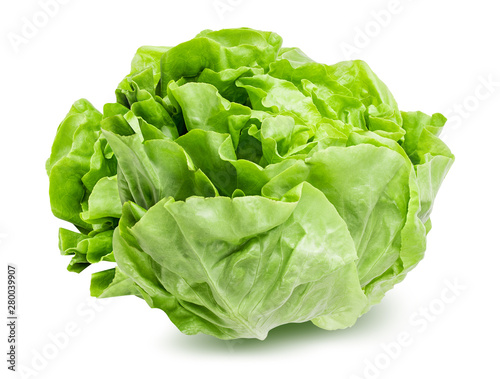 Fotografía Fresh lettuce isolated on white background with clipping path