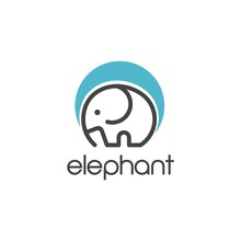 Elephant. Logo Design Vector Icon Template  Download