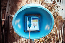 Blue Spherical Retro Telephone...