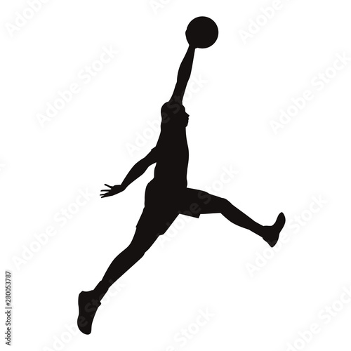 Basketball Player Silhouettes Wallpaper Mural