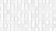 3d Rendered Texture Of Rotating Tiles On A White Background.