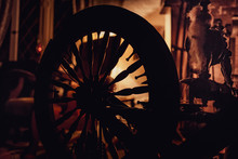 Silhouette Of A Spinning Wheel