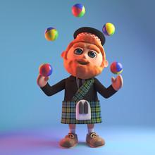 Cartoon Scottish Man Character...