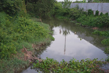Waste Water Drainage Canal Fro...