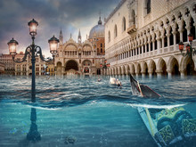 Drowning Venice. Surreal Conce...
