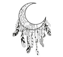 Dreamcatcher On White. Abstrac...