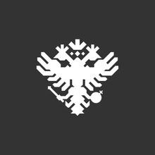 Double Eagle  Logo. Russian Eagle Logo.