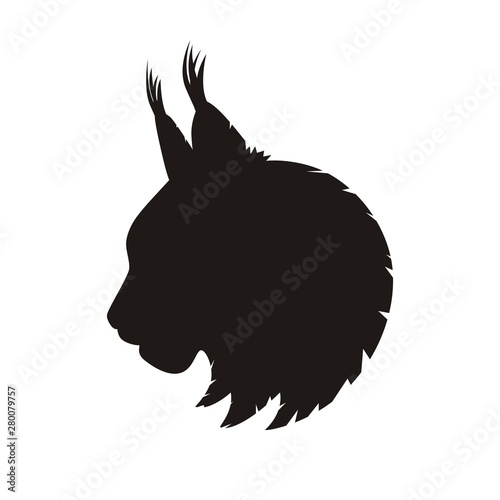 Fotomural Wild Lynx Head Silhouette