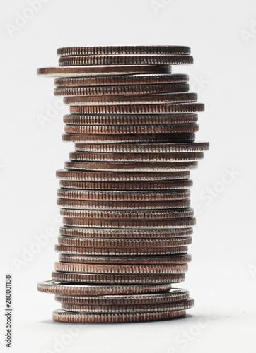 Obraz na plátně stack of quarters