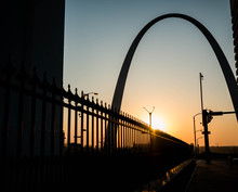 Sunrise At The Arch In St Louis