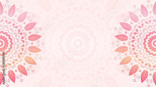 La pose en embrasure Style Boho Floral mandala background template. Gradient pattern for design, textile