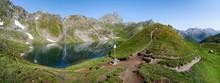 The Lac Bleu In Chianale, Moun...