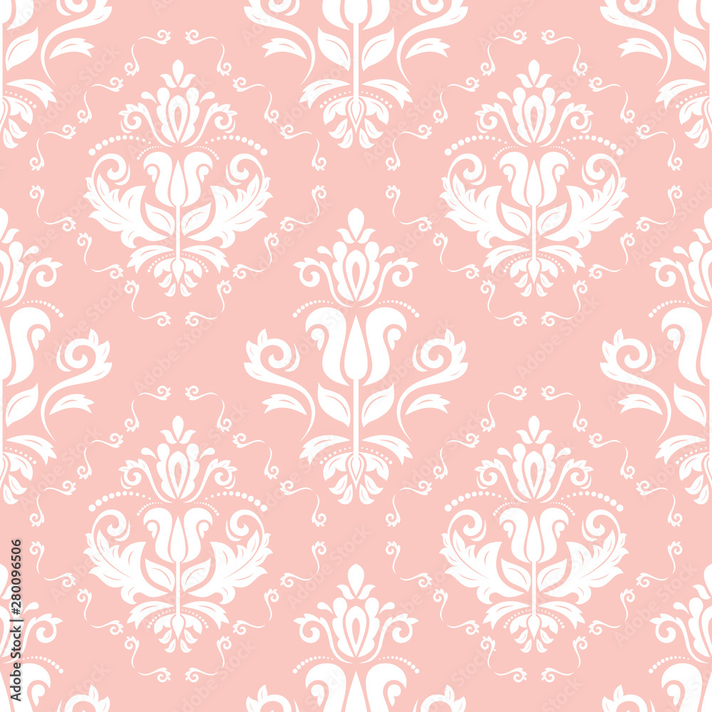 Orient classic pattern. Seamless abstract background with vintage white elements. Orient background