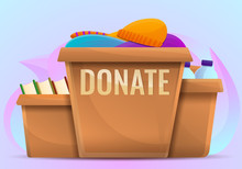 Donate Boxes Concept Backgroun...