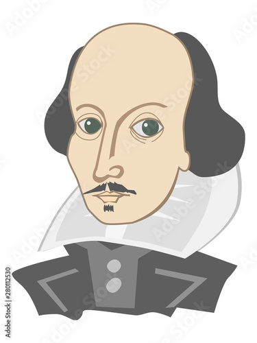 Fototapeta William Shakespeare famous english poet