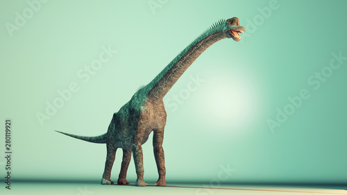 Fototapeta  Brachiosaurus in the studio