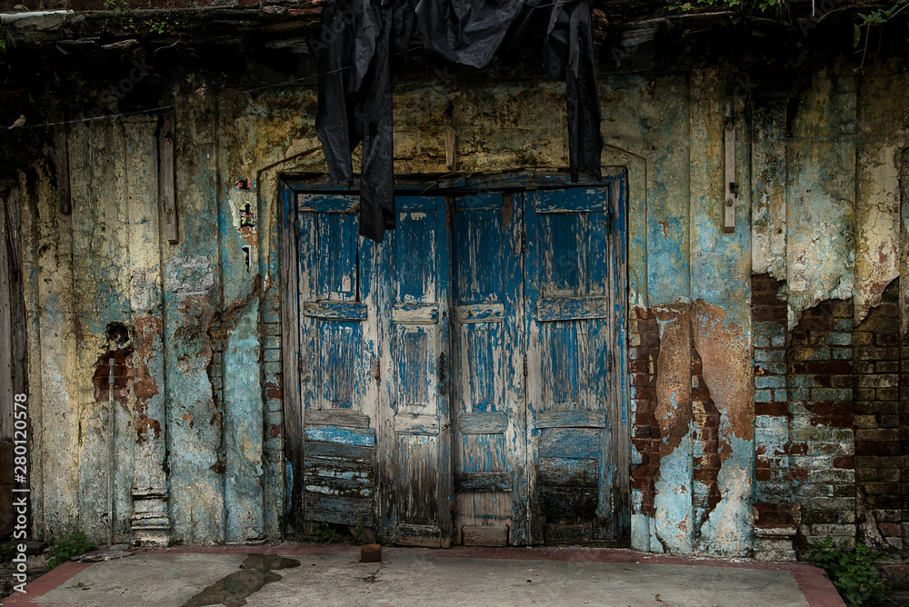 Door in old house