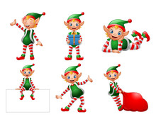 Funny Cartoon Elf Illustration Collections