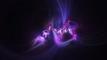 Abstract Transparent Violet Crystal Shapes. Fantasy Light Background. Digital Fractal Art. 3d Rendering.