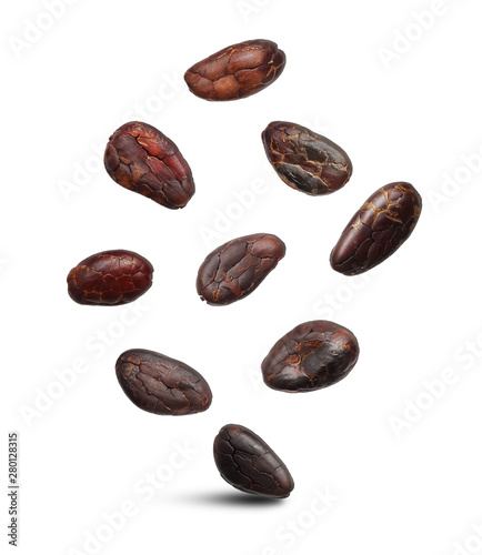 Fotomural  Cacao beans isolated