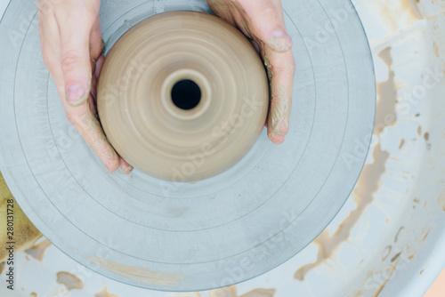 Fotografija Women working on the potter's wheel