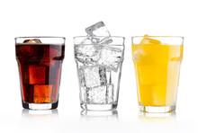 Glasses Of Cola And Orange Sod...