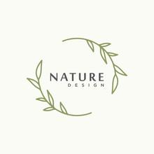 Nature Tree Branch Leaf Vector Icon Illustration Logo Design