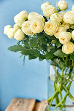 A Bouquet Of White Roses Flowe...