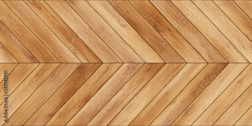 Obraz Seamless wood parquet texture horizontal chevron light brown - fototapety do salonu