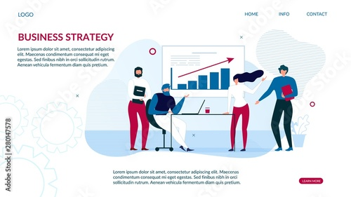 Photo  Business Strategy Landing Page for Data Analysis