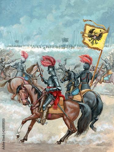 Photo Cavalry attack