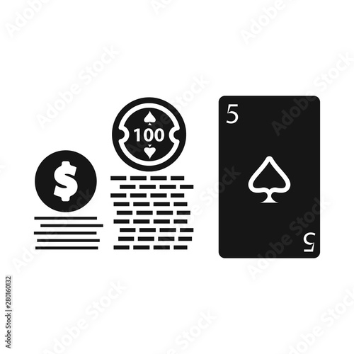 Vector design of game and poker symbol  Collection of game